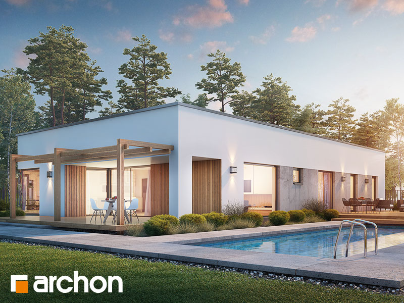 Проект дома ARCHON+ Дом в хурмах 2 Вид 1