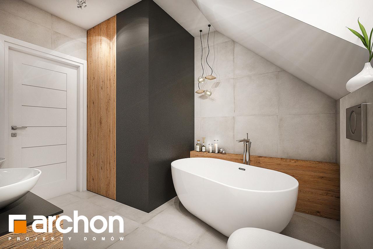 Проект будинку ARCHON+ Будинок в яблонках 6 візуалізація ванни (візуалізація 3 від 2)