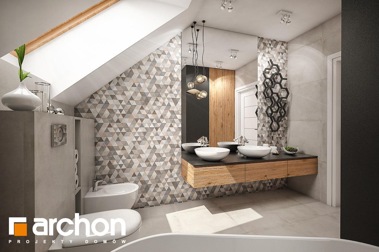 Проект будинку ARCHON+ Будинок в яблонках 6 візуалізація ванни (візуалізація 3 від 3)