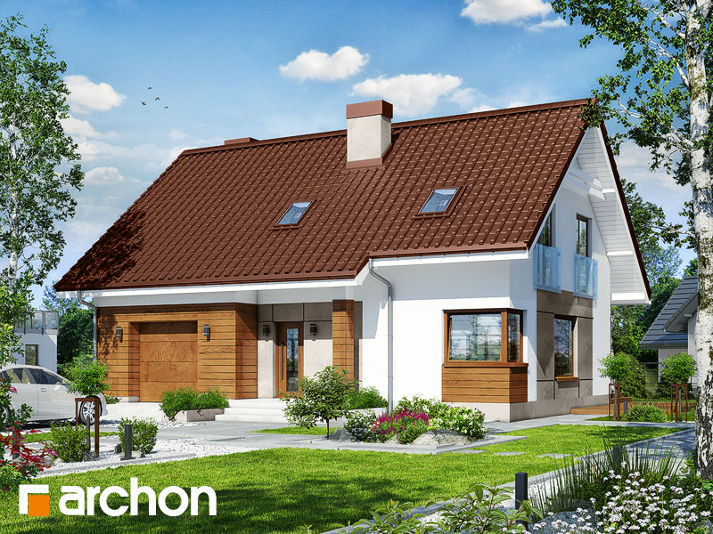 Проект будинку ARCHON+ Будинок в яблонках 6 Вид 1