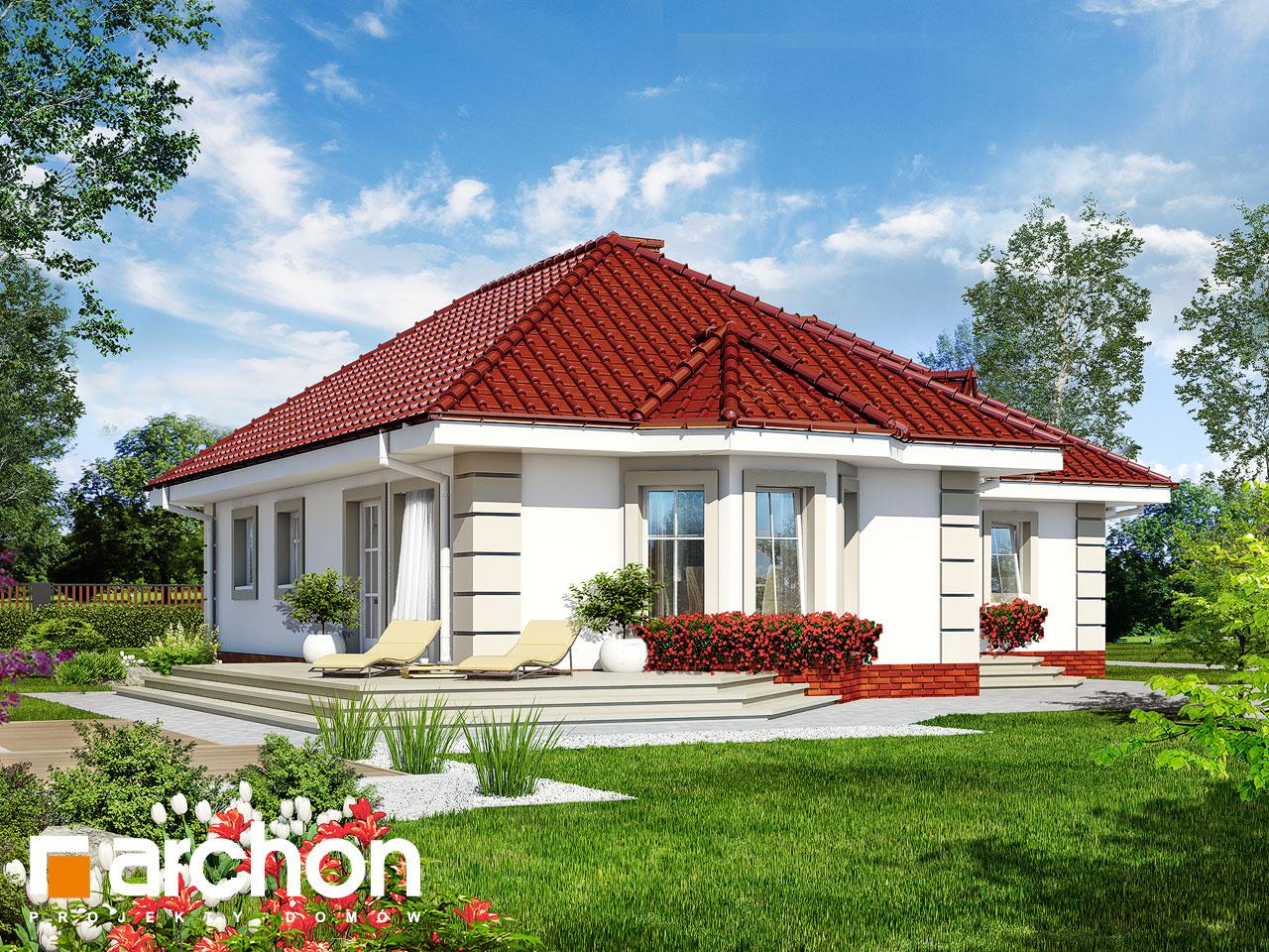 Проект будинку ARCHON+ Будинок в сердечнику  Вид 2