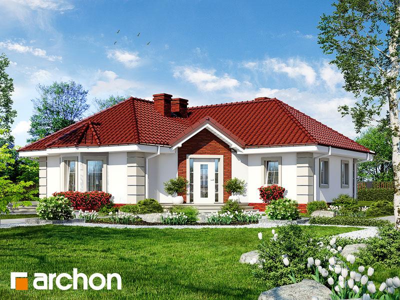 Проект будинку ARCHON+ Будинок в сердечнику  Вид 1