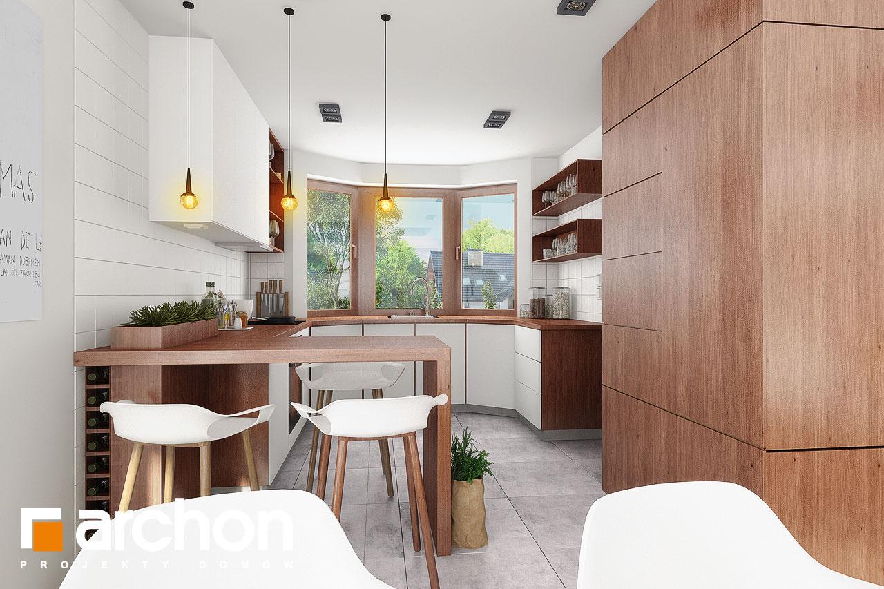 Проект будинку ARCHON+ Будинок в калатеях 5 Termo візуалізація кухні 3 від 1