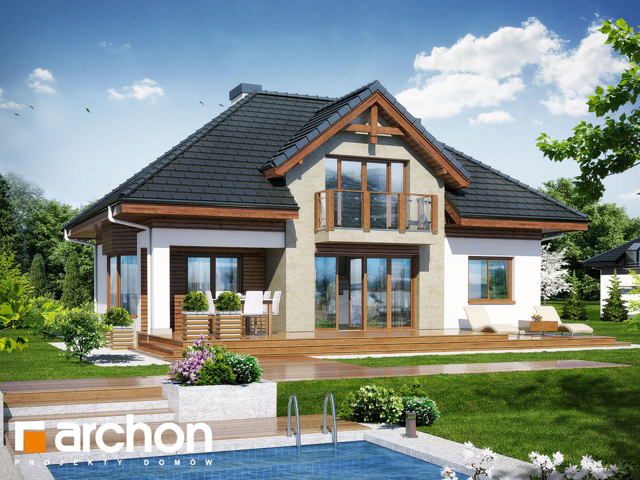 Проект будинку ARCHON+ Будинок в калатеях 5 Termo Вид 2