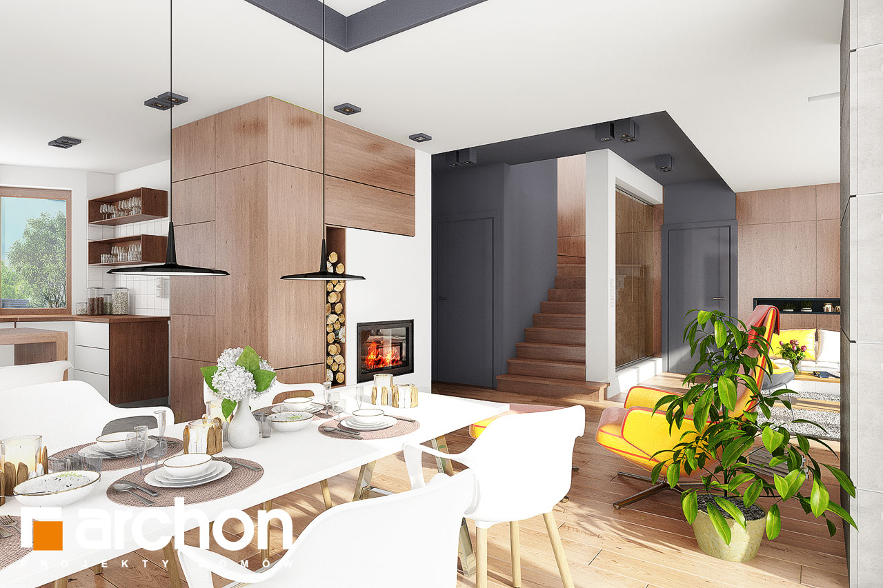 Проект будинку ARCHON+ Будинок в калатеях 5 Termo денна зона (візуалізація 1 від 3)