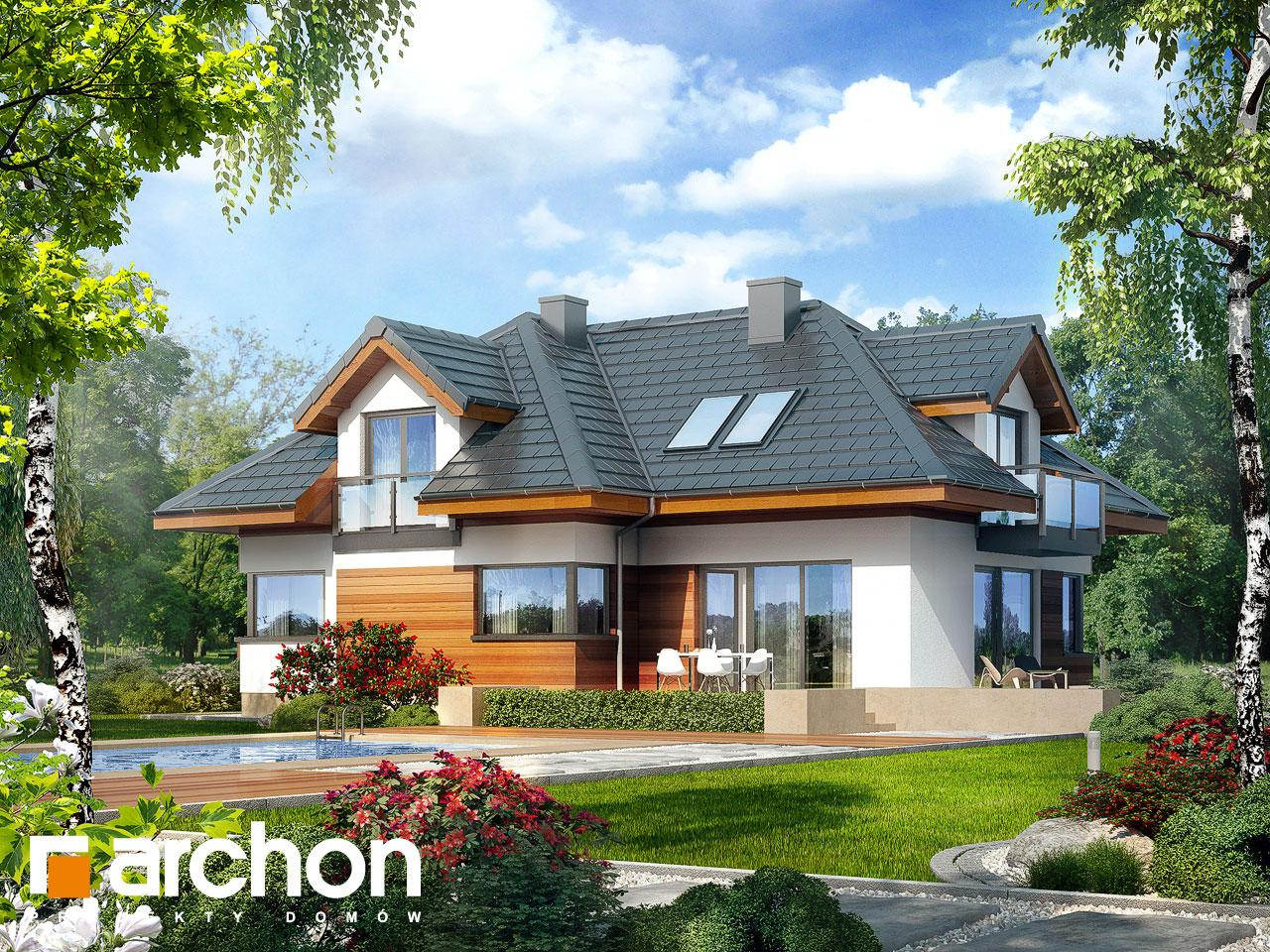 Проект будинку ARCHON+ Будинок в камеліях (Г2H) ver 2  Вид 2