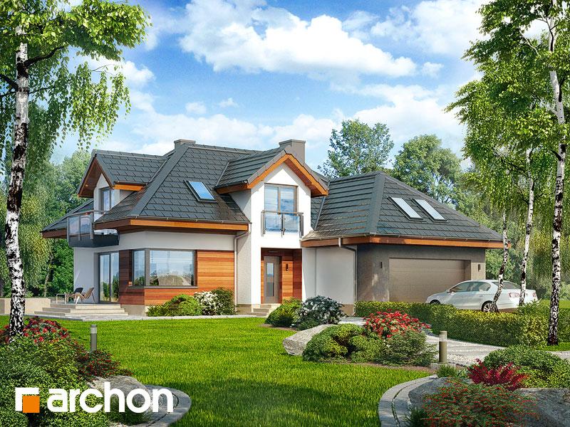 Проект будинку ARCHON+ Будинок в камеліях (Г2H) ver 2  Вид 1