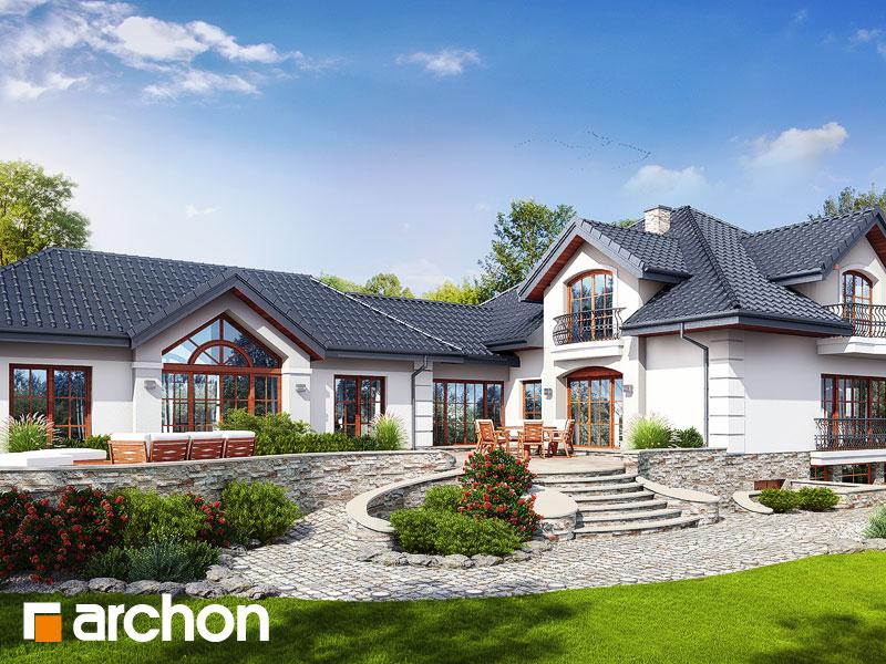 Проект будинку ARCHON+ Резиденція у персимонах 3 Вид 1