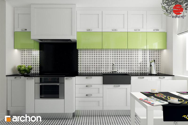 Проект дома ARCHON+ Дом в горошке 4 вер.2 аранжировка кухни 1 вид 1