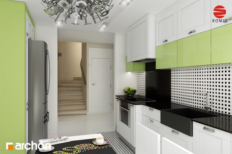 Проект дома ARCHON+ Дом в горошке 4 вер.2 аранжировка кухни 1 вид 2