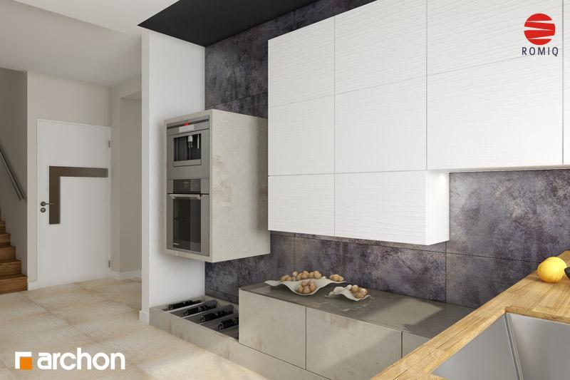 Проект дома ARCHON+ Дом в горошке 4 вер.2 аранжировка кухни 2 вид 2