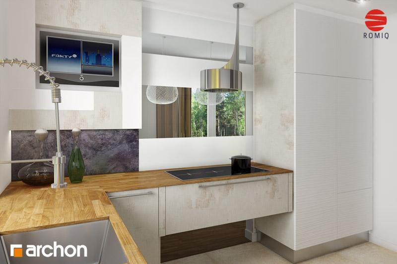 Проект дома ARCHON+ Дом в горошке 4 аранжировка кухни 2 вид 1