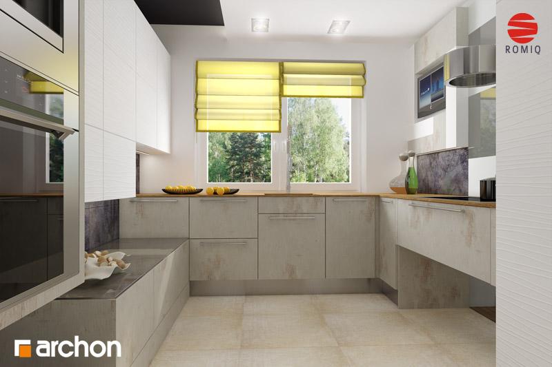 Проект дома ARCHON+ Дом в горошке 4 аранжировка кухни 2 вид 3