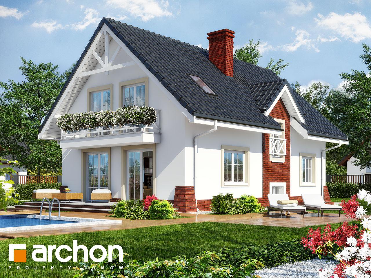 Проект дома ARCHON+ Дом в горошке 4 Вид 2