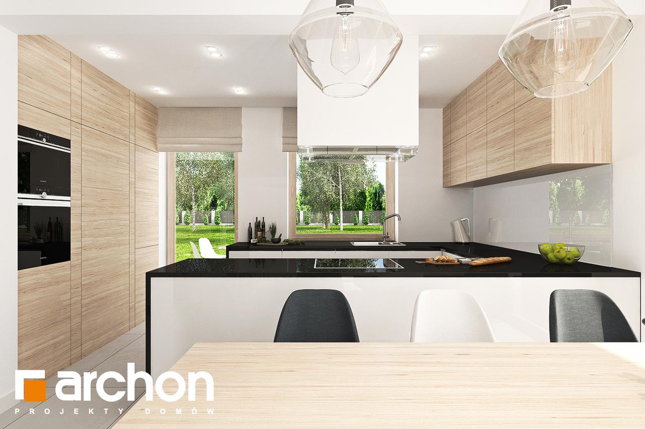 Проект будинку ARCHON+ Будинок в яблонках 7 візуалізація кухні 1 від 2