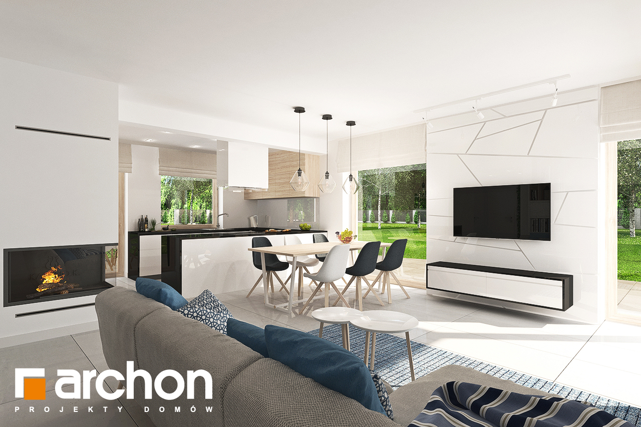 Проект будинку ARCHON+ Будинок в яблонках 7 денна зона (візуалізація 1 від 2)