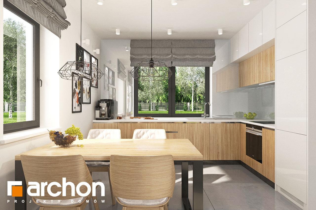 Проект будинку ARCHON+ Будинок в хлорофітумі ver.2 візуалізація кухні 1 від 1