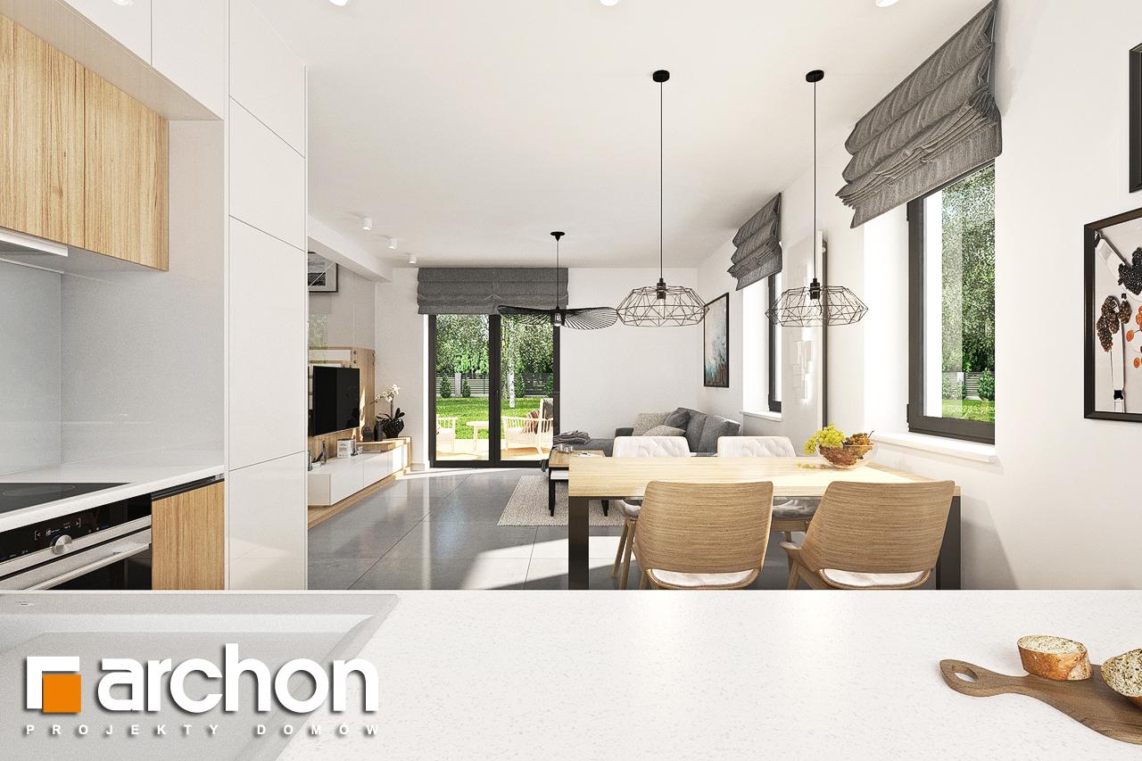 Проект будинку ARCHON+ Будинок в хлорофітумі ver.2 візуалізація кухні 1 від 2