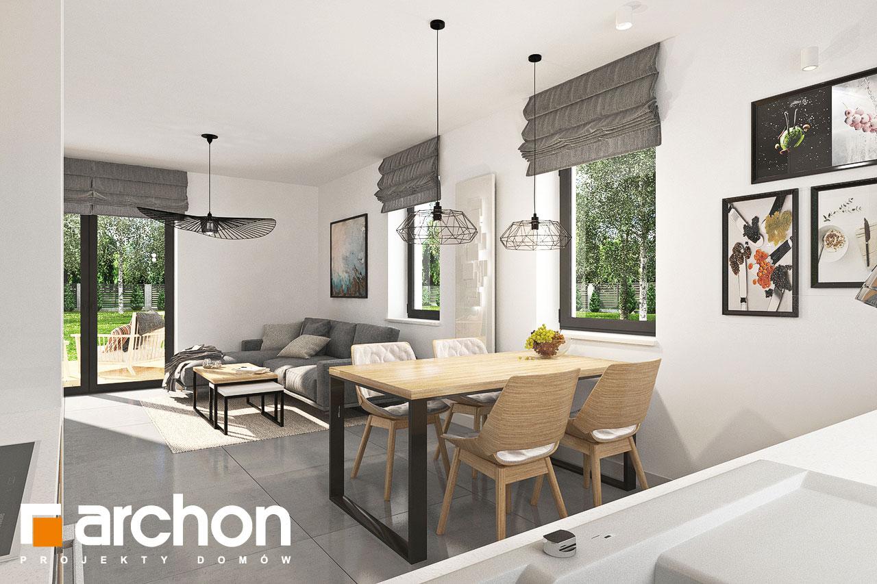 Проект будинку ARCHON+ Будинок в хлорофітумі ver.2 візуалізація кухні 1 від 3