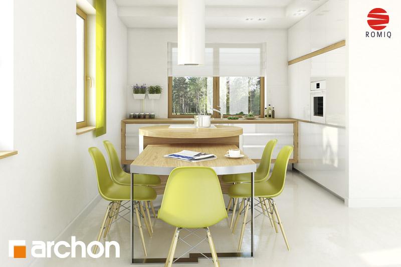 Проект будинку ARCHON+ Будинок в хлорофітумі ver.2 візуалізація кухні 2 від 1
