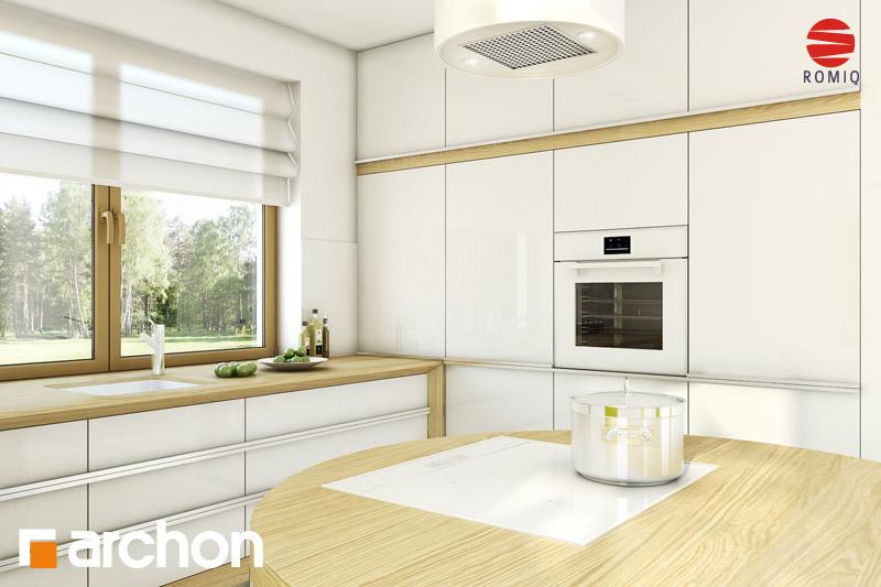 Проект будинку ARCHON+ Будинок в хлорофітумі ver.2 візуалізація кухні 2 від 2