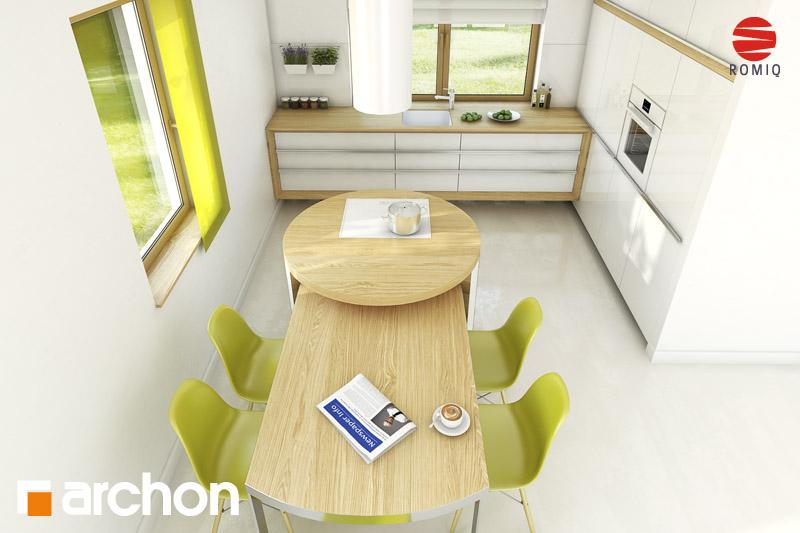 Проект будинку ARCHON+ Будинок в хлорофітумі ver.2 візуалізація кухні 2 від 4