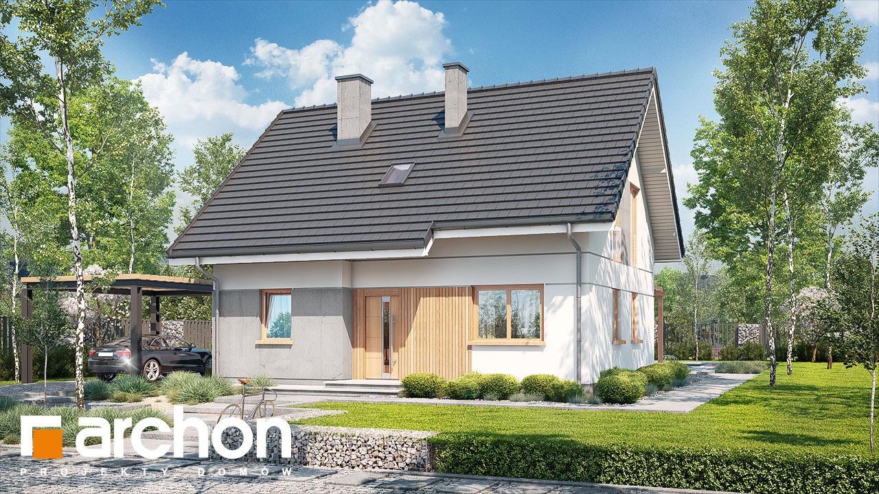 Проект будинку ARCHON+ Будинок в хлорофітумі ver.2 стилізація 4