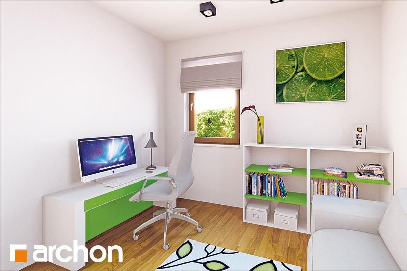 Проект будинку ARCHON+ Будинок в хлорофітумі ver.2 нічна зона (візуалізація 1 від 4)