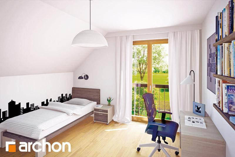 Проект будинку ARCHON+ Будинок в хлорофітумі ver.2 нічна зона (візуалізація 1 від 3)