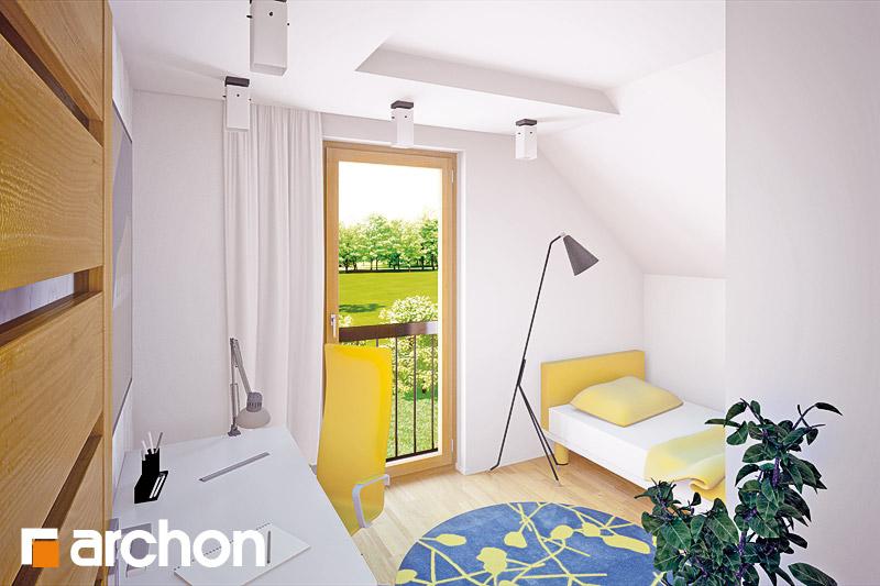 Проект будинку ARCHON+ Будинок в хлорофітумі ver.2 нічна зона (візуалізація 1 від 2)
