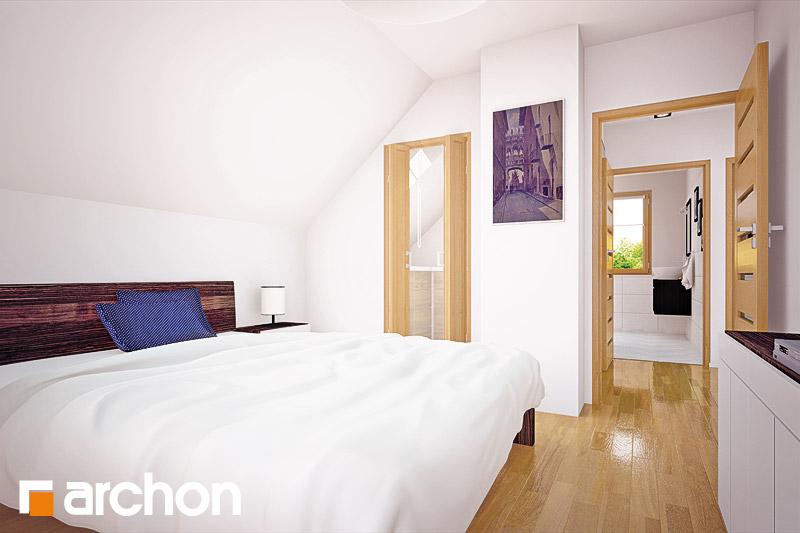 Проект будинку ARCHON+ Будинок в хлорофітумі ver.2 нічна зона (візуалізація 1 від 1)