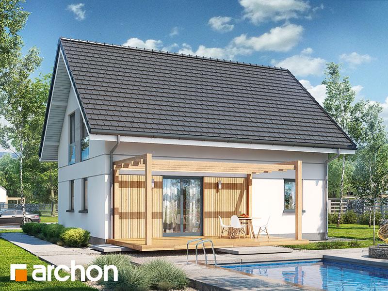 Проект будинку ARCHON+ Будинок в хлорофітумі ver.2 Вид 1