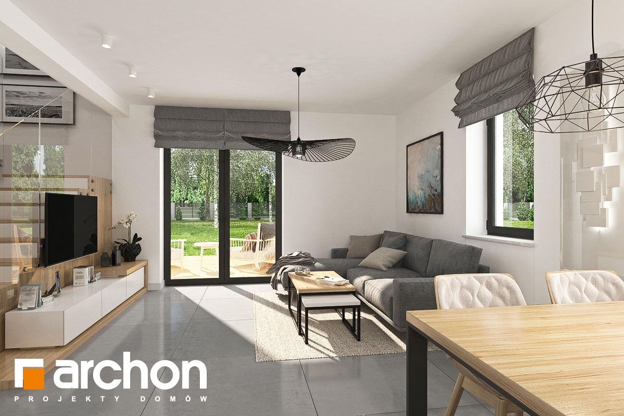 Проект будинку ARCHON+ Будинок в хлорофітумі ver.2 денна зона (візуалізація 1 від 1)