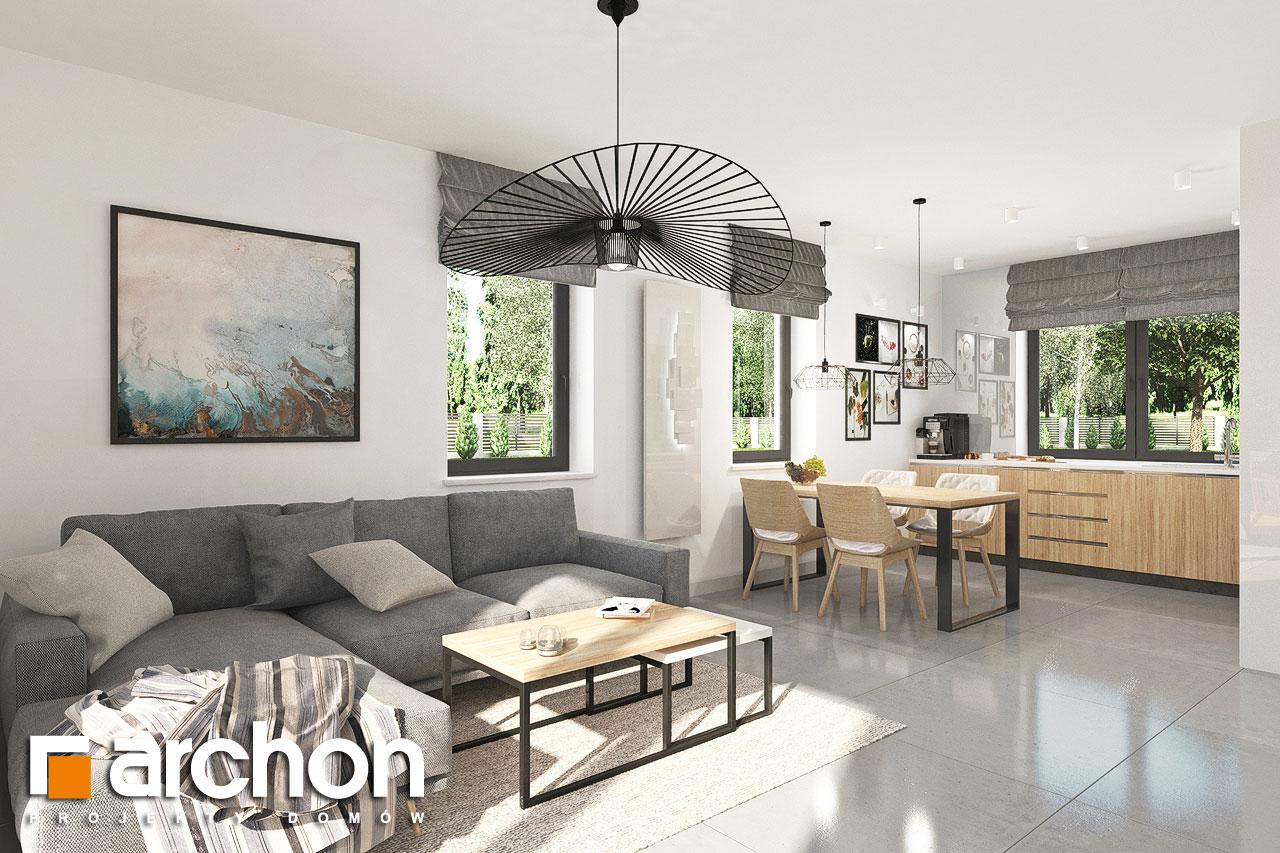 Проект будинку ARCHON+ Будинок в хлорофітумі ver.2 денна зона (візуалізація 1 від 2)