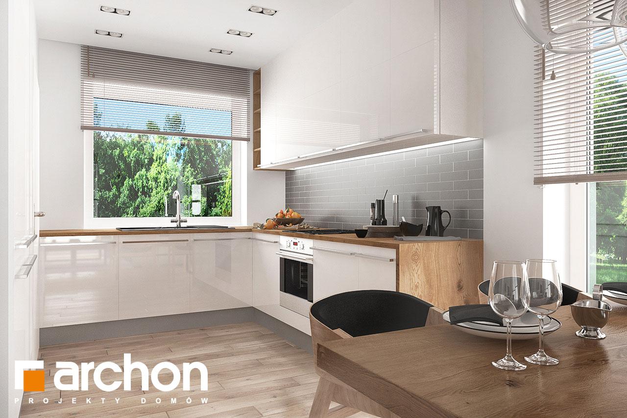 Проект будинку ARCHON+ Будинок в рододендронах 23 візуалізація кухні 1 від 1