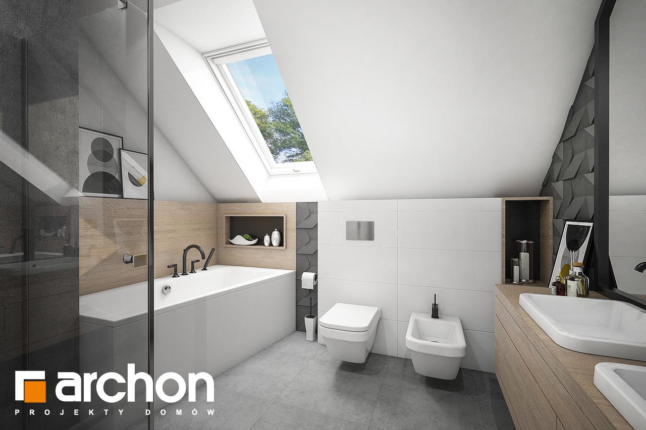 Проект будинку ARCHON+ Будинок в рододендронах 23 візуалізація ванни (візуалізація 3 від 1)