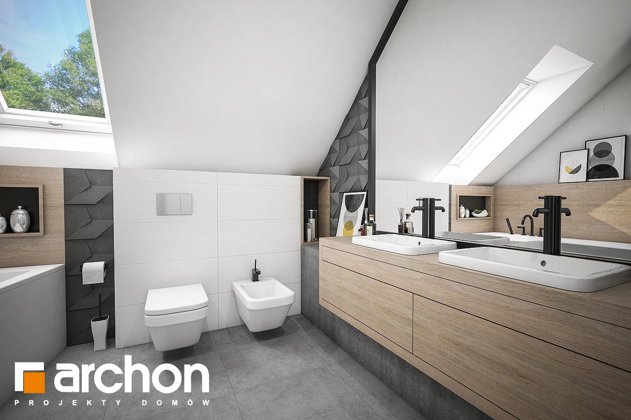 Проект будинку ARCHON+ Будинок в рододендронах 23 візуалізація ванни (візуалізація 3 від 2)