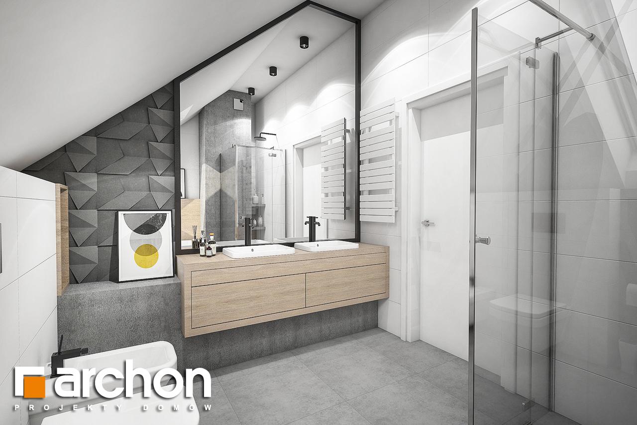 Проект будинку ARCHON+ Будинок в рододендронах 23 візуалізація ванни (візуалізація 3 від 3)