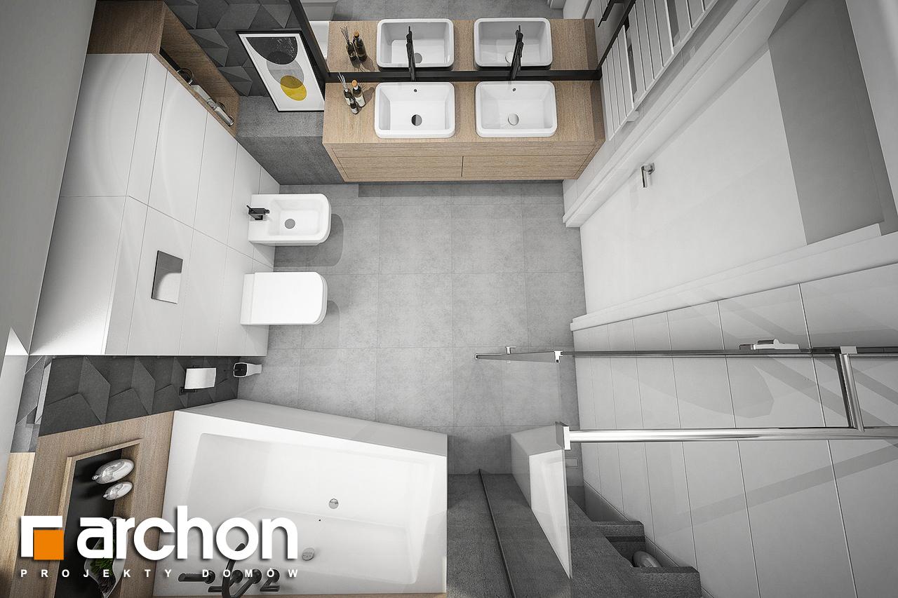 Проект будинку ARCHON+ Будинок в рододендронах 23 візуалізація ванни (візуалізація 3 від 4)