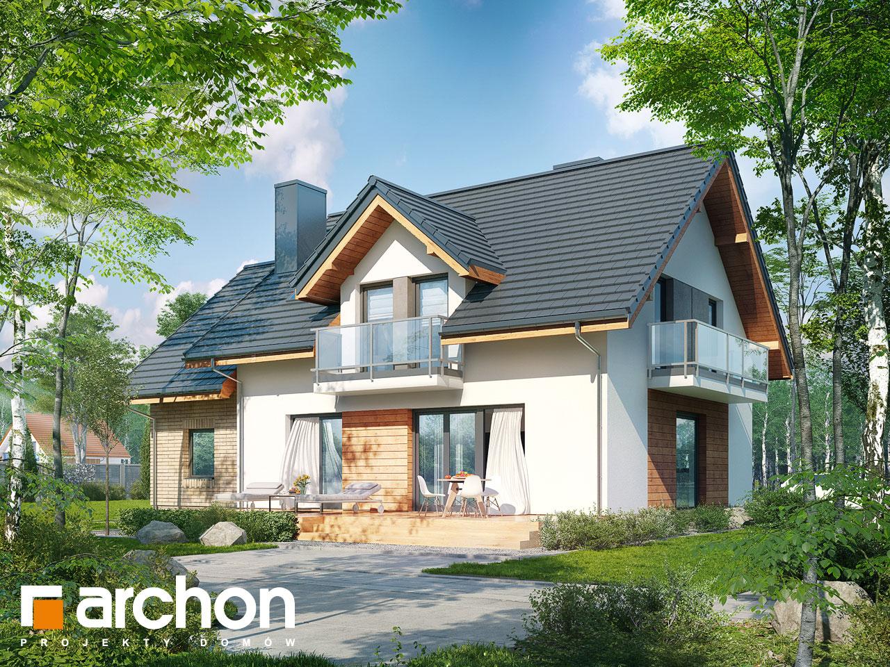 Проект будинку ARCHON+ Будинок в рододендронах 23 Вид 2
