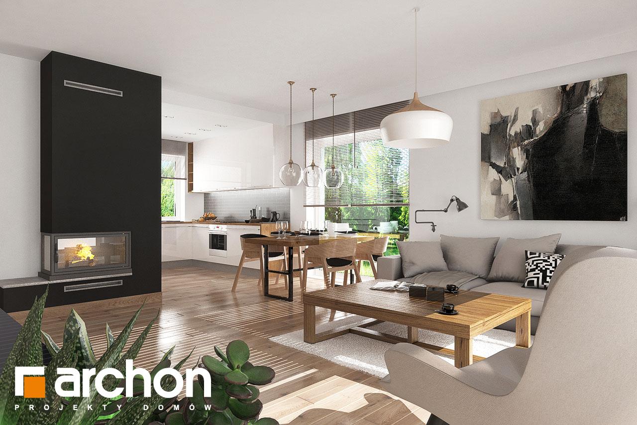 Проект будинку ARCHON+ Будинок в рододендронах 23 денна зона (візуалізація 1 від 2)