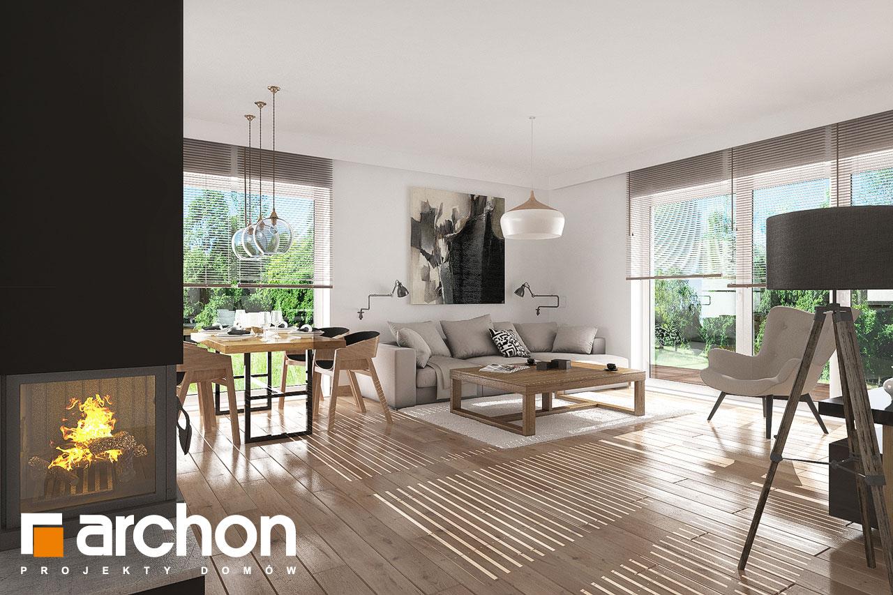 Проект будинку ARCHON+ Будинок в рододендронах 23 денна зона (візуалізація 1 від 3)