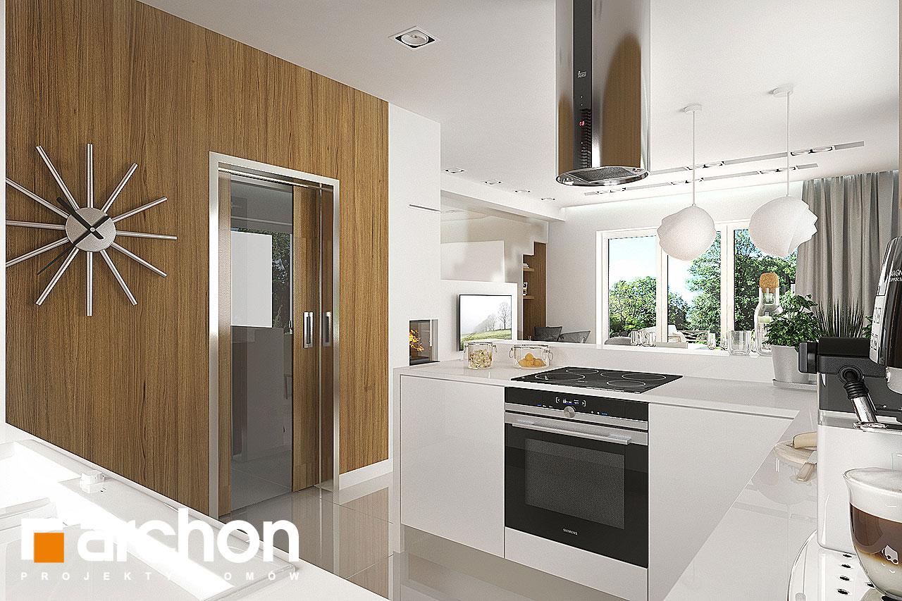 Проект будинку ARCHON+ Будинок в яблонках візуалізація кухні 1 від 2