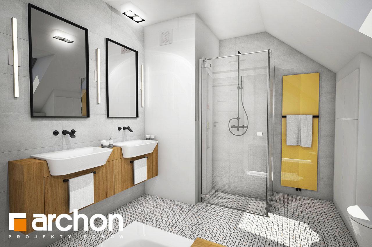 Проект будинку ARCHON+ Будинок в яблонках візуалізація ванни (візуалізація 3 від 3)