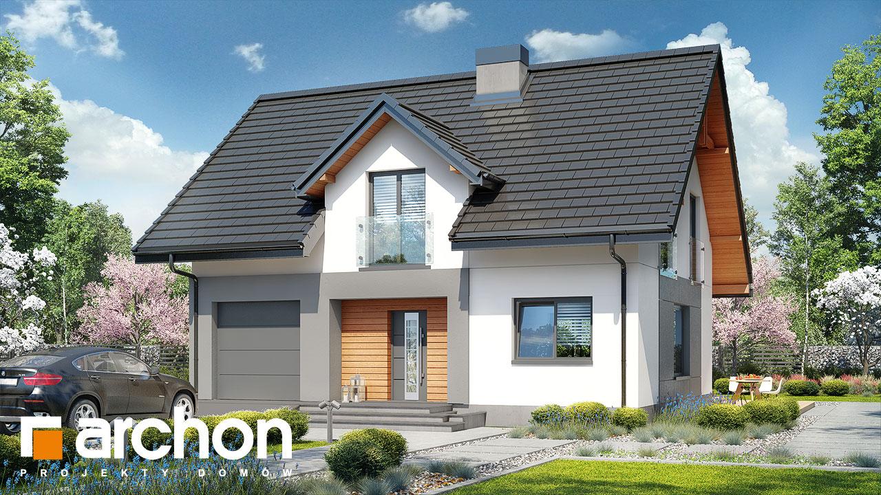 Проект будинку ARCHON+ Будинок в яблонках 5 стилізація 3