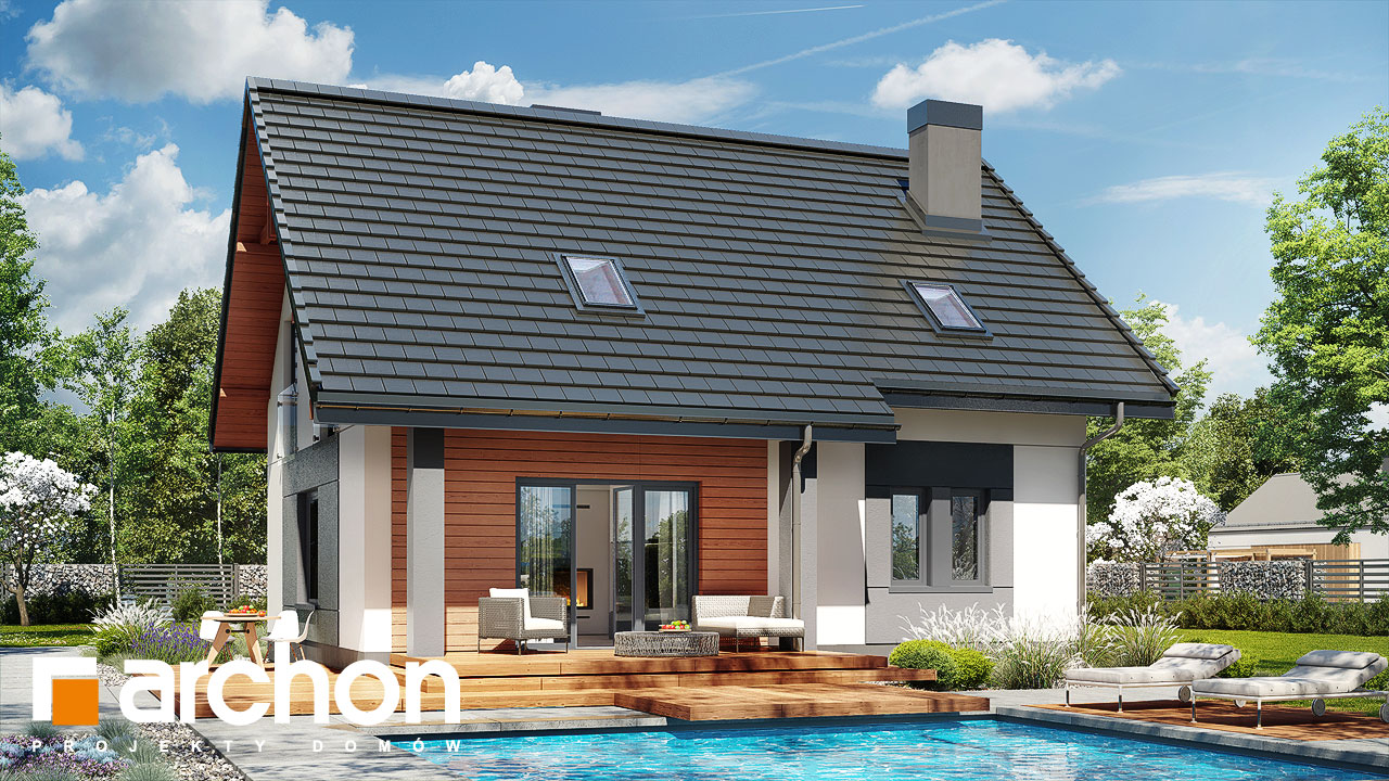 Проект будинку ARCHON+ Будинок в яблонках 5 стилізація 4