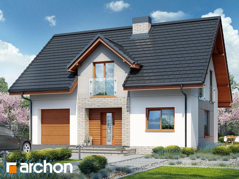 Проект будинку ARCHON+ Будинок в яблонках 5 Вид 1