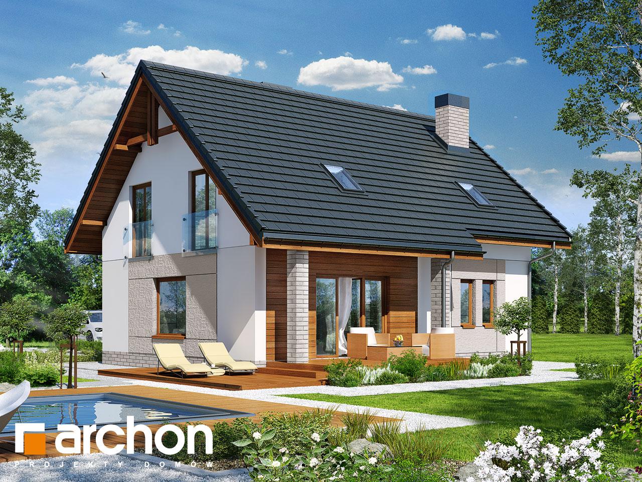 Проект будинку ARCHON+ Будинок в яблонках Вид 2