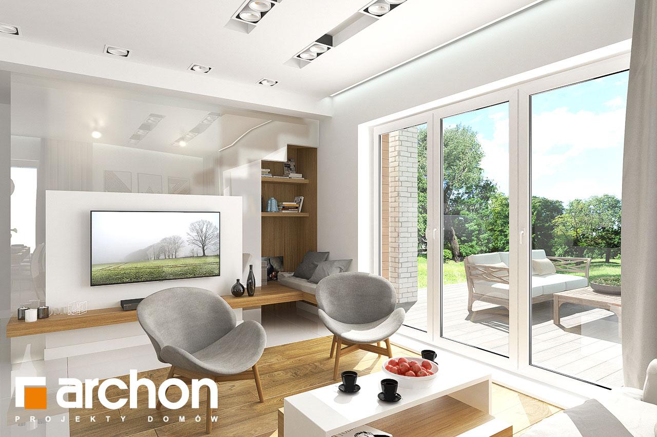 Проект будинку ARCHON+ Будинок в яблонках денна зона (візуалізація 1 від 2)