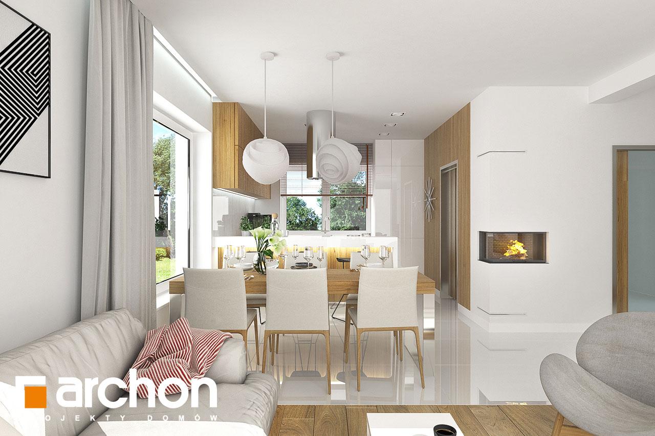Проект будинку ARCHON+ Будинок в яблонках денна зона (візуалізація 1 від 3)